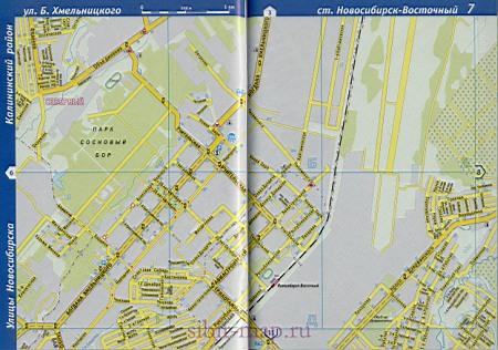Калининский район Новосибирска. Детальная карта ...: http://novosibirsk-obl.ru/1336830.html