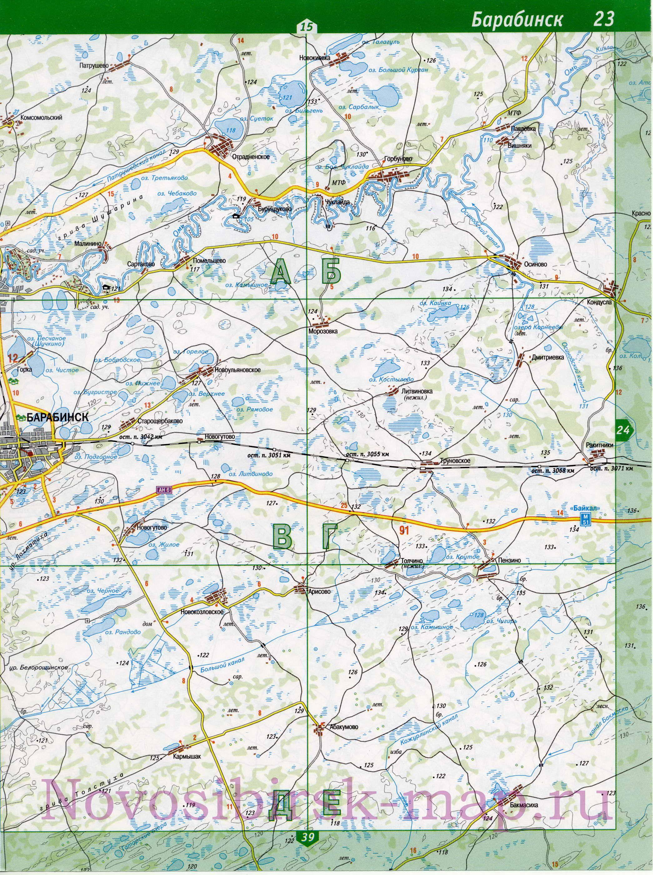 Карта Нсо Географическая