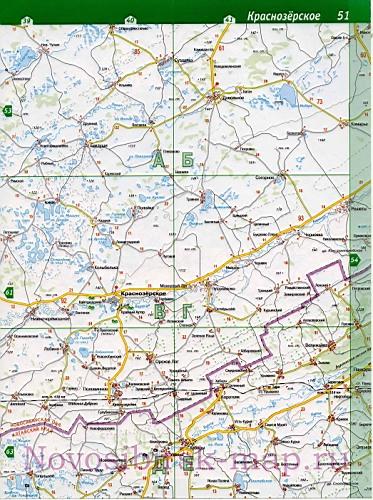 Карта Краснозерского района